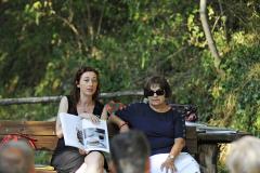 """Sestola (MO), mercoledì 12 luglio 2017, presso il giardino della biblioteca presentazione del libro di Sara Prati e Claudia Rinaldi """"In cucina non si buttava niente. Ricette insolite di ieri e di oggi per non sprecare cibo e denaro"""""""