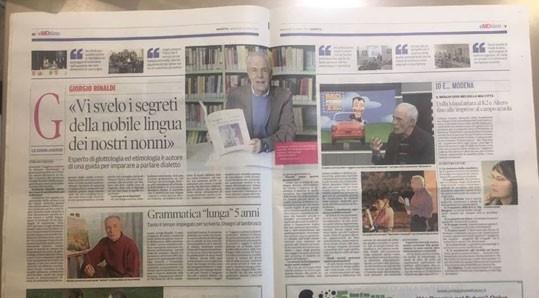 Il prof Giorgio Rinaldi svela i segreti del dialetto modenese La Gazzetta di Modena del 27 Aprile 2017