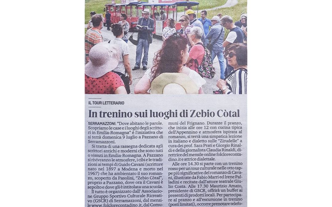 In Trenino nei luoghi di Zebio Cotal- Gazzetta di Modena 06/06/2019