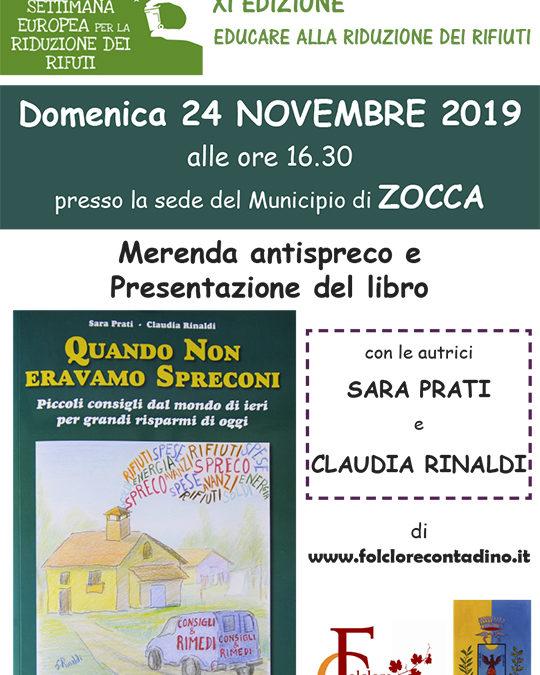 Domenica 24 Novembre alle ore 16.30, presso la biblioteca di Zocca