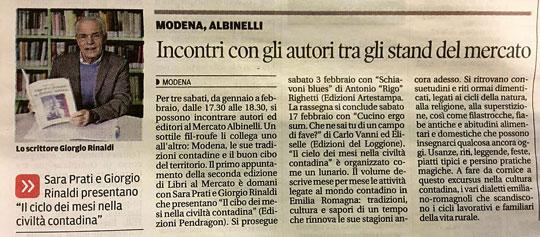 """Articolo tratto da """"La Gazzetta di Modena"""""""