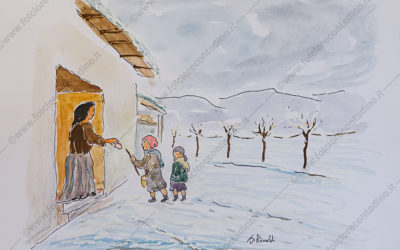 Ónżer al sprōch (Ungere lo stecco) al Giovedì Grasso
